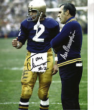 ARA PARSEGHIAN TOM CLEMENTS AUTOGRAPHED 8X10 PHOTO NOTRE DAME FIGHTING IRISH