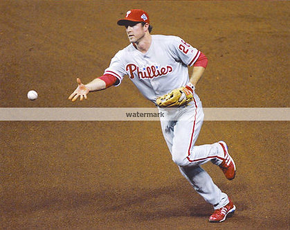 Chase Utley 2008 Phillies World Series Flip photo