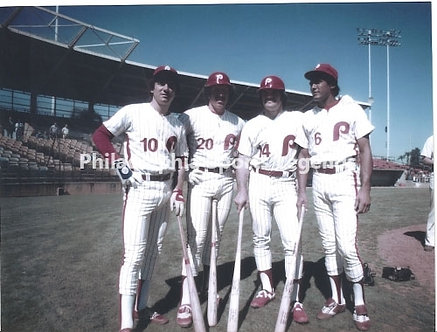 1980 Philadelphia Phillies World Series infield Schmidt Rose Bowa Trillo 8x10