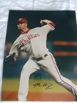 J A Happ signed 2008 Philadelphia Phillies World Series 11x14 photo