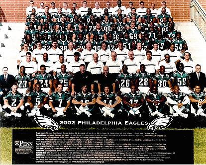2002 Philadelphia Eagles team 8x10 photo