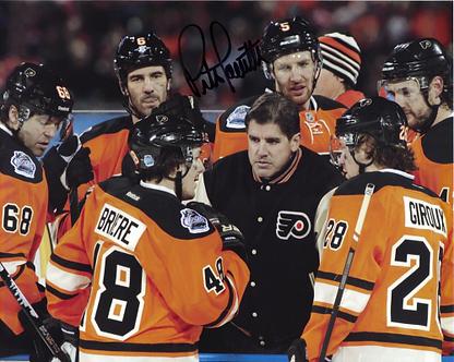 Peter Laviolette Philadelphia Flyers autographed 2012 Winter Classic 8x10