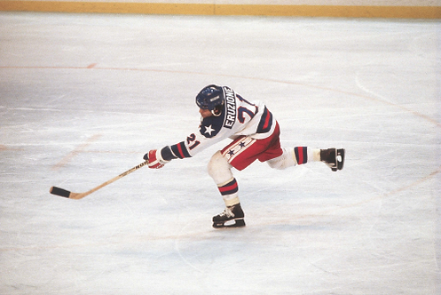 Mike Eruzione USA Olympic Hockey Miracle on Ice 8x10 photo #1