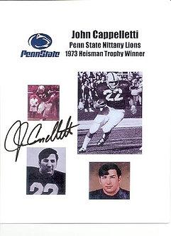 John Cappelletti Penn State Football autographed 8.5 x 11 photo 1973 Heisman