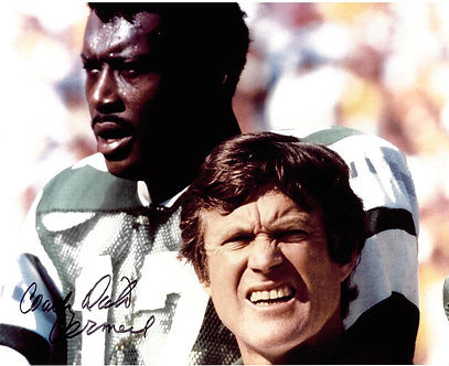 DICK VERMEIL SIGNED EAGLES 8X10 WITH HAROLD CARMICHAEL #2