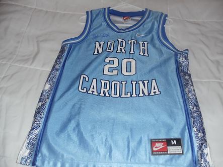Dean Smith North Carolina Tar heels autographed NIKE jersey #4
