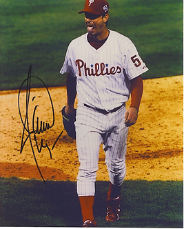 Jamie Moyer signed Philadelphia Phillies 2008 World Series tongue 8x10