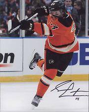 Sean Couturier signed Philadelphia Flyers 2012 Winter Classic 8x10 slap shot