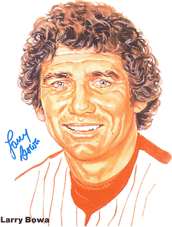 Larry Bowa 1980 Philadelphia Phillies signed 8.5x11 color portrait