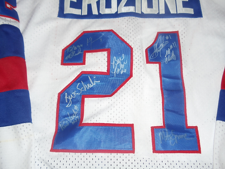 Miracle on Ice 9 signed Mike Eruzione jersey DO YOU BELIEVE