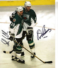 JOHN LECLAIR ERIC LINDROS DUAL SIGNED PHILADELPHIA FLYERS ALL STAR 8X10 CLASSIC