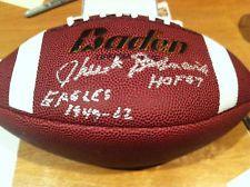 CHUCK BEDNARIK PHILADELPHIA EAGLES AUTOGRAPHED FOOTBALL HALL OF FAME-