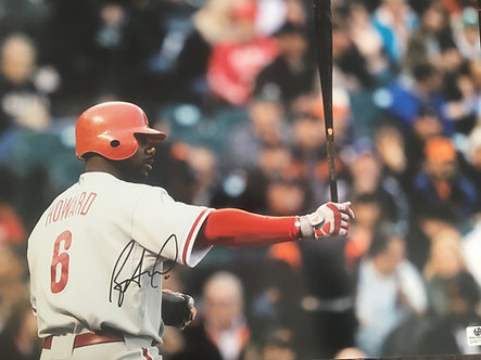 RYAN HOWARD PHILADELPHIA PHILLIES SIGNED 11X14 GLOBAL