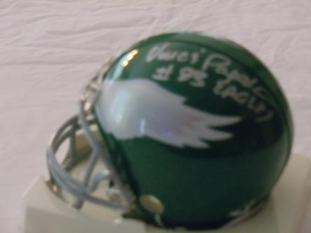 Vince Papale Philadelphia Eagles autographed 80's retro mini helmet Invincible