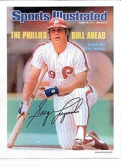 "Greg ""The Bull"" Luzinski Phillies signed Sports Illustrated 8.5 x 11"