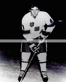 MARK PAVELICH USA MIRACLE ON ICE GOLD MEDAL B&W PHOTO