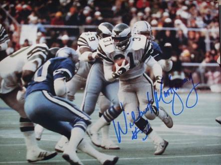 Wilbert Montgomery autographed Philadelphia Eagles 1980 Touchdown Run vs Dallas
