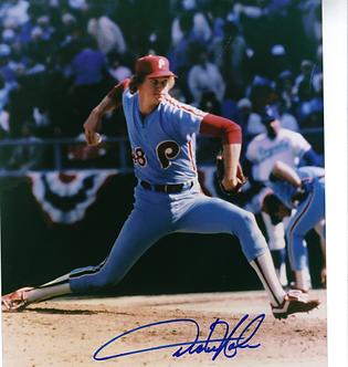 Dickie Noles Philadelphia Phillies signed 1980 World Series 8x10