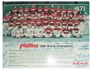 1980 Philadelphia Phillies World Series Champion 11x14 team photo 19 autographs