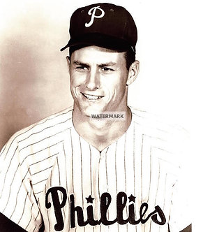 DALLAS GREEN 1964 1980 PHILLIES B&W CLASSIC PHOTO
