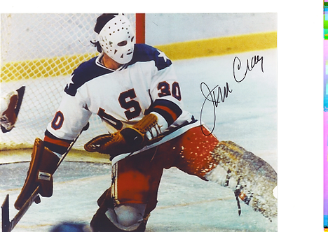 Jim Craig 1980 Olympic Hockey Miracle On Ice autographed 8x10 kick save #5