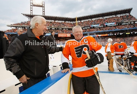 Ed Snider Bob Clarke Philadelphia Flyers 2012 Winter Classic Alumnni 8x10 HOF