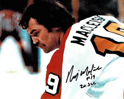 RICK MACLEISH FLYERS 2X STANLEY CUP CHAMPION SIGNED 8X10