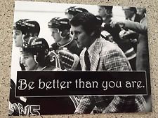 HERB BROOKS 1980 OLYMPIC HOCKEY MIRACLE ON ICE GOLD MEDAL QUOTE PHOTO