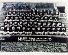 JOHNNY LUJACK HEISMAN AUTOGRAPHED 1947 NOTRE DAME FIGHTING IRISH TEAM 8X10