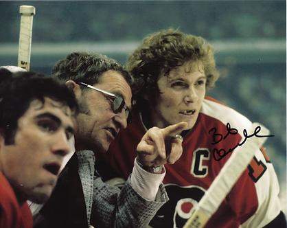 Bob Clarke Philadelphia Flyers signed 8x10 with Fred Shero Broad Street Bullies