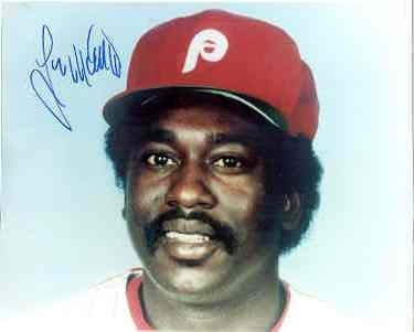 "Gary ""Sarge"" Mathews autographed 1983 Philadelphia Phillies 8x10 #1"