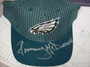 Tommy McDonald Philadelphia Eagles Hall of Fame signed new hat