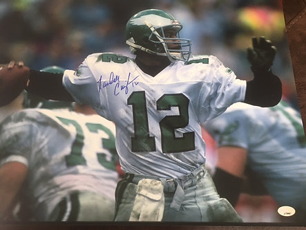 RANDALL CUNNINGHAM PHILADELPHIA EAGLES SIGNED 16X20 ULTIMATE WEAPON