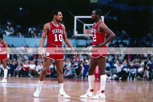 Andrew Toney Mo Cheeks 1983 Philadelphia 76ers photo