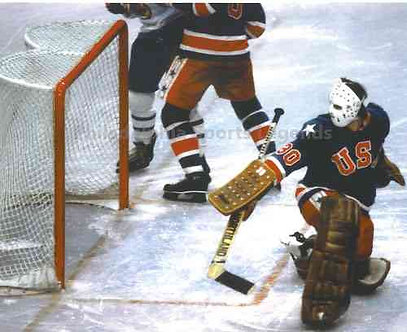 Jim Craig 1980 Olympic Hockey Miracle On Ice unsigned save photo #7.