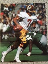 JOE THEISMANN signed 8x10 photo REDSKINS SB XVII CHAMPS NOTRE DAME