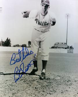 Curt Simmons Philadelphia Phillies autographed 8x10 photo