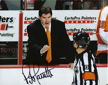 Peter Laviolette signed Philadelphia Flyers 8x10 arguing with referee