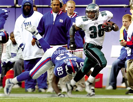 """BRIAN WESTBROOK EAGLES """"MIRACLE"""" PHOTO"""