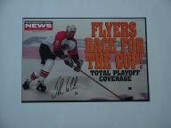 John LeClair autographed Philadelphia Flyers Race For The Cup 11x14 Daily News