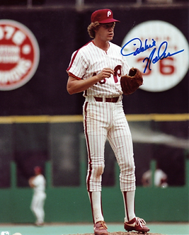 Dickie Noles Philadelphia Phillies signed 1980 World Series 8x10 #2