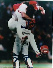 DARREN DAULTON MITCH WILLIAMS 1993 PHILADELPHIA PHILLIES CELEBRATION 8X10 CHAMPS