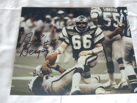 Bill Bergey Eagles signed Super Bowl XV 11x14