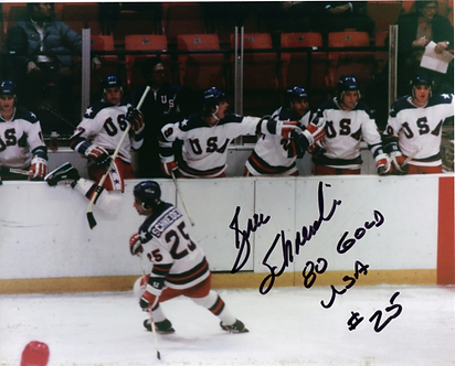 Buzz Schneider USA Olympic Hockey Miracle on Ice 8x10 photo Do You Believe??