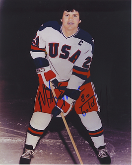 Mike Eruzione autographed color 8x10 Miracle on Ice