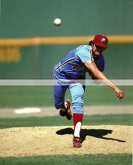 "STEVE BEDROSIAN ""BEDROCK"" PHILLIES PHOTO 1987 CY YOUNG AWARD"