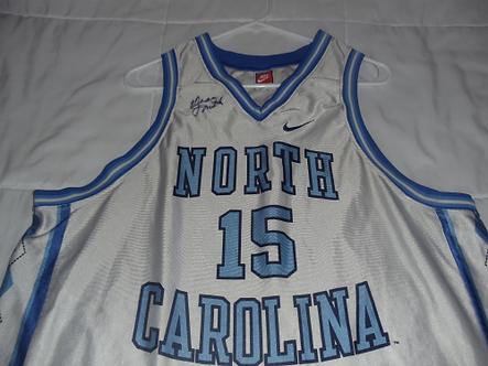 Dean Smith North Carolina Tar heels autographed NIKE jersey #2