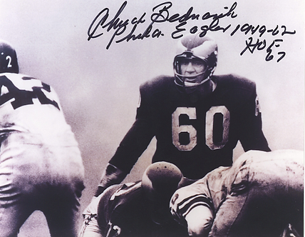 Chuck Bednarik Philadelphia Eagles autographed action 8x10 Linebacker photo