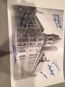 1964 Phillies 9 signed Shibe Park 11x17