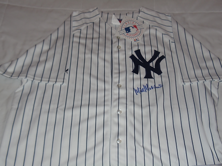 Mike Mussina New York Yankees autographed home jersey